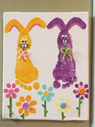 Bildergebnis für easter card somebunny special with handprints