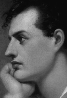 "Portrait of Lord Byron by Richard Westall.  Lady Caroline Lamb called Byron ""Mad, Bad and Dangerous to know""."