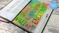 Week 27 of the original Bible Art Journaling Challenge by Rebekah R Jones.