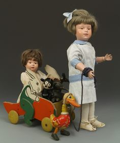 Love these two Schoenhut dolls!