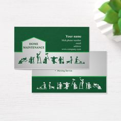 Handyman & Home maintenance services Business Card Custom Office Retirement Maintenance Logo, Home Maintenance Schedule, Business Card Logo, Business Card Design, Handyman Logo, Mowing Services, Commercial Cleaning Company, Business Flyer Templates, Logo Branding