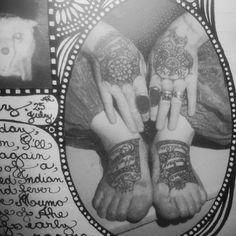 Australian artist, Vali Myers, hands & feet tattoos