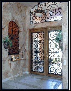 Wrought Iron Door Cabinet Doors Tuscan Style Mediterranean