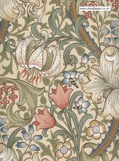 William Morris Wallpaper | William Morris Golden Lily WM8556/2