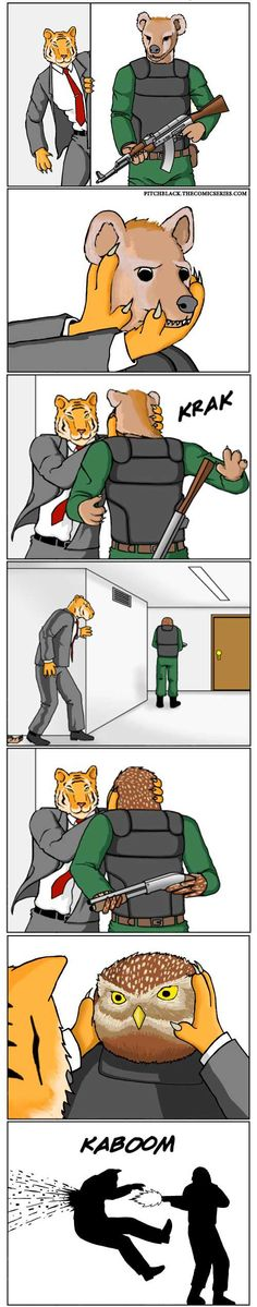 Soldier Owl doesn't f**k around... - 9GAG