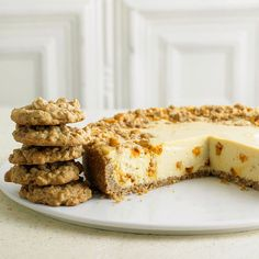 Oatmeal-Butterscotch Cookie Cheesecake - love that oatmeal butterscotch combo!