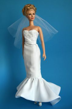 Wedding Gown OOAK for Barbie by ChicBarbieDesigns on Etsy, $29.99