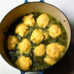 SIMMERED GREENS WITH CORNMEAL DUMPLINGS, It's a Southern Thing!!!