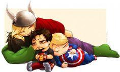 aww lil baby avengers :)