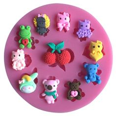 1 x Cute Bears and Cats Animals Silicone Mold Mold Size: 9.6 cm x 1.1 cm (W X D) Material: Silicone Temperature: -40° ~ +230° ★ Easy to clean ★ Food Safe, FDA Approved ★ Can be used in the refrigerato