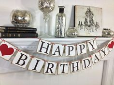 HAPPY BIRTHDAY banner Birthday Decorations Happy by ABannerAffair, $26.00