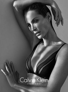 Another supermodel from the returns to modeling – this time it's 44 year old Christy Turlington for Calvin Klein underwear. The campaign was shot by Mario Sorrenti and as usual in black & white. Christy Turlington shot her Calvin Klein Lingerie, Calvin Klein Ads, Calvin Klein Underwear, Mario Sorrenti, Christy Turlington, Cindy Crawford, Cool Attitude, New Bra, Wale