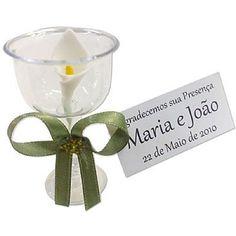 Lembrancinha de Casamento Cálice de Acrílico Decorado $1.20
