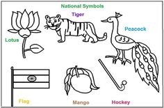 National Symbols of India coloring printable pages