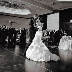 "For their first dance, the newlyweds chose ""You're My Latest, My Greatest Inspiration"" by Teddy Pendergrass, spun by DJ Reach. Carlos Andrés Varela Photography."