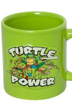 Embossed Ninja Turtle Mug