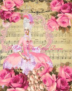 Stunning Altered Art Marie Antoinette Paris