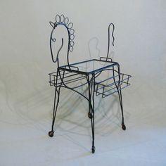 Vintage Frederic Weinberg / John Risley Horse Serving Cart