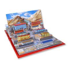 """Arte e Arquitetura: """"Minha Cidade de Papel"""", atrativos patrimoniais ao estilo pop-up,Libro Pop-UP Tesoros de Chile. Image Courtesy of Mi Ciudad de Papel"""
