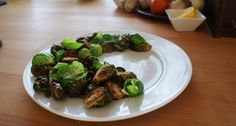 Brussel sprouts carmelized while frying in deep oil
