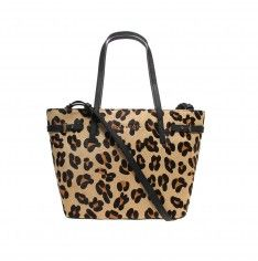 leather tote leopard tote bag from Kurt Geiger London