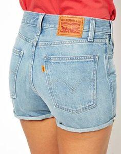 Levi's High Waist Denim Shorts