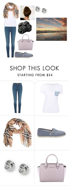 """""""photography"""" by shelbylyn-133 on Polyvore featuring River Island, Helmut Lang, Burberry, TOMS, Nikon, FOSSIL and MICHAEL Michael Kors"""