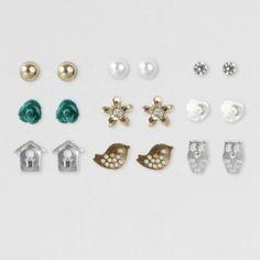 Fun Stud Earrings Set of 9