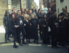 Whitby Goth Weekend 1994, outside Elsinore.