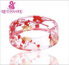 Enchanting Resin Red Branch Ring