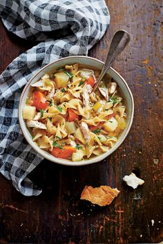 Soulful Chicken Soup - Lightened Up Slow-Cooker Recipes - Southernliving. Recipe: Soulful Chicken Soup