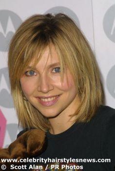 Haircut Long Medium Length Hair Cuts For Women   Sarah Chalke with a medium length bob haircut