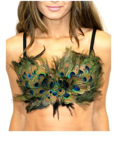 peacock feather bra, Peacock, edc, edm, burning man, coachella, festival, Peacock Bra,Rave Bra