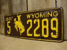 Historic Wyoming license plate