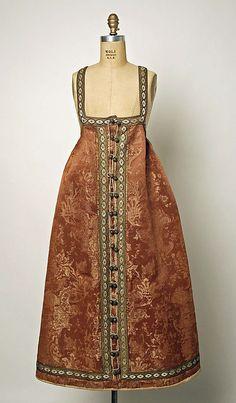 Ensemble Date: 1800–1939 Culture: Russian Medium: silk, fur, silver
