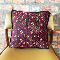 Devotedly hand embroidered on Egyptian cotton, this colourful cover with its snowflake motif – is named after Boreas ~ Greek god of the cold North wind and the bringer of winter.  Black with purple, deep red and yellow accents. 40cm x 40cm. Available @laviebohemedecor. Free delivery in South Africa. Embroidered Cushions, Yellow Accents, Egyptian Cotton, Free Delivery, South Africa, Greek, Range, Colours, Cold