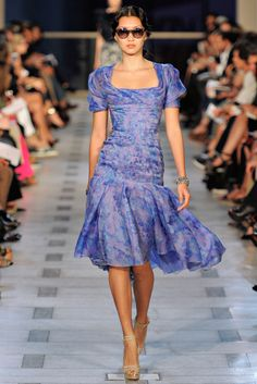 Lovely fabric. Zac Posen Spring RTW 2012 Ping Hue Cheung Photo by Yannis Vlamos