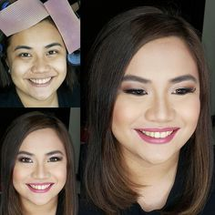 #BeforeAndAfter So blessed with beautiful brows I just worked on balancing and correcting her complexion adding warmth and freshness to her skin. Also enhanced the expressive eyes of this beautiful soon to be lawyer Chikki for her graduation photo  #AteneoLawSchool #MakeupByAimeeG  Makeup by @loveaimeeg Hair by @khylelimino #graduationmakeup #gradpic #makeupartistph #makeupartist #hmua #hmuaph #mua #muaph #makeup #hairstylist #hair #beauty #photographymakeup