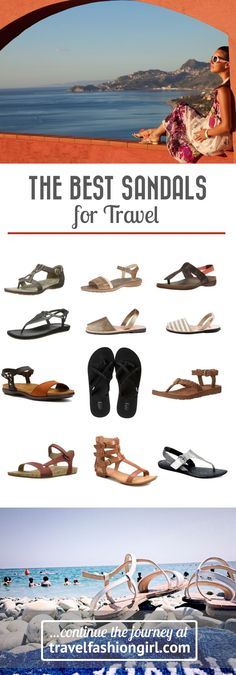 Having a tough time finding sandals that work for you for travel? Here are 10 stylishly comfortable options for your next warm weather destination! | http://travelfashiongirl.com
