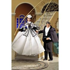 Barbie® Doll as Scarlett O'Hara (black and white dress)