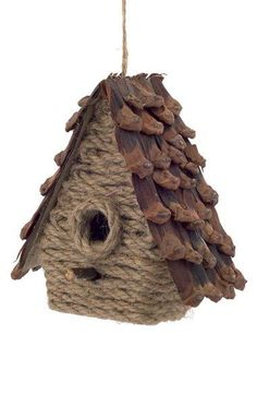 Melrose Gifts Birdhouse Ornament available atCountry Cabin Style Jute and Pine Cone Birdhouse Christmas Ornament - EURHome, Kitchen, Bedroom & Bathroom Decor Pine Cone Crafts, Burlap Crafts, Decor Crafts, Nature Crafts, Homemade Christmas Decorations, New Years Decorations, Holiday Decorations, Christmas Home, Christmas Crafts