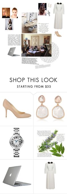 """Meeting with Victoria, Angelica and Carla at Kensington Palace for agenda discussion"" by royaluk ❤ liked on Polyvore featuring Jimmy Choo, Monica Vinader, Cartier, Speck, Anja, By Terry and Dolce&Gabbana"