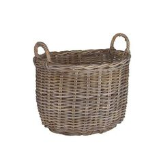 Oval Rattan Log Basket in Kubu Natural from Wovenhill http://www.wovenhill.co.uk/Home-Storage/Kubu-Rattan-Oval-Large-Storage-Log-Basket.aspx