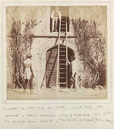 Stable door and ladder, Lacock Abbey, Wiltshire, 1844, William Henry Fox Talbot (reproduced by Helmut Gernsheim, 1955)