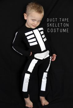 DIY Duct Tape Skeleton Costume