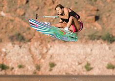 If only me and Aaron didn't share a wakeboard I could get a girly one :) Wakeboarding Girl, Slalom Skiing, Surfing Tips, Sup Surf, California Surf, Skateboard Girl, Water Life, Water Photography, Big Challenge