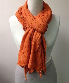 Look what I found on #zulily! Orange Pearl Wool-Blend Scarf #zulilyfinds