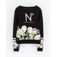 Casual Round Collar Floral Print Long Sleeves Sweatshirt For Women