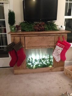 How to create a diy faux fireplace mantel using pieces from an old how to create a diy faux fireplace mantel using pieces from an old bed christmas decorating ideas pinterest faux fireplace mantels faux fireplace solutioingenieria Image collections