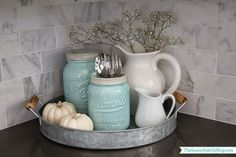 House Decor: Simple Fall decor in the kitchen (Sunny Side Up)